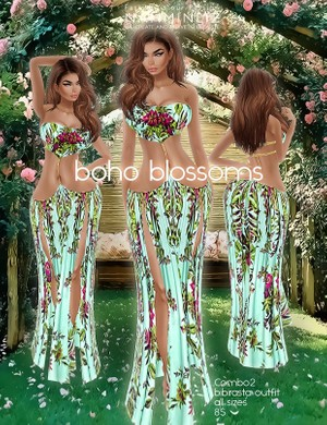 Boho blossoms combo2 all sizes bibirasta imvu texture PNG