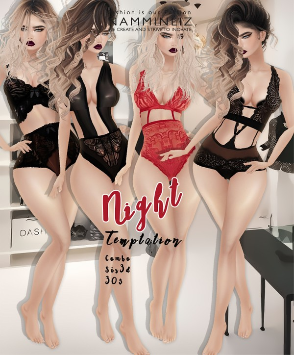 Night Temptation imvu Sis3d outfit full combo