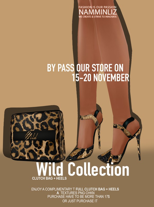 By Pass our stores on 15 - 20 November to get a complimentary Clutch Bag + Heels 2 CHKN Texture PNG