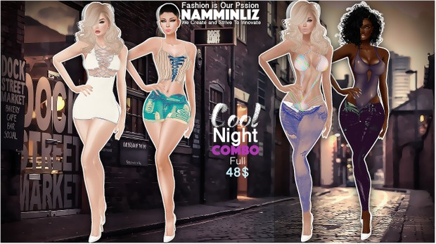 Cool Night combo4  •Two Outfits DVX All Sizes