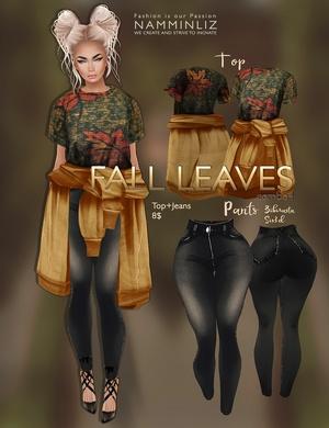 Fall Leaves combo 4 imvu texture JPG ( Tops, Jeans Bibirasta & Sis3d )