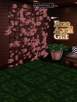 Happy April imvu free gift ♥ Flowers Wall