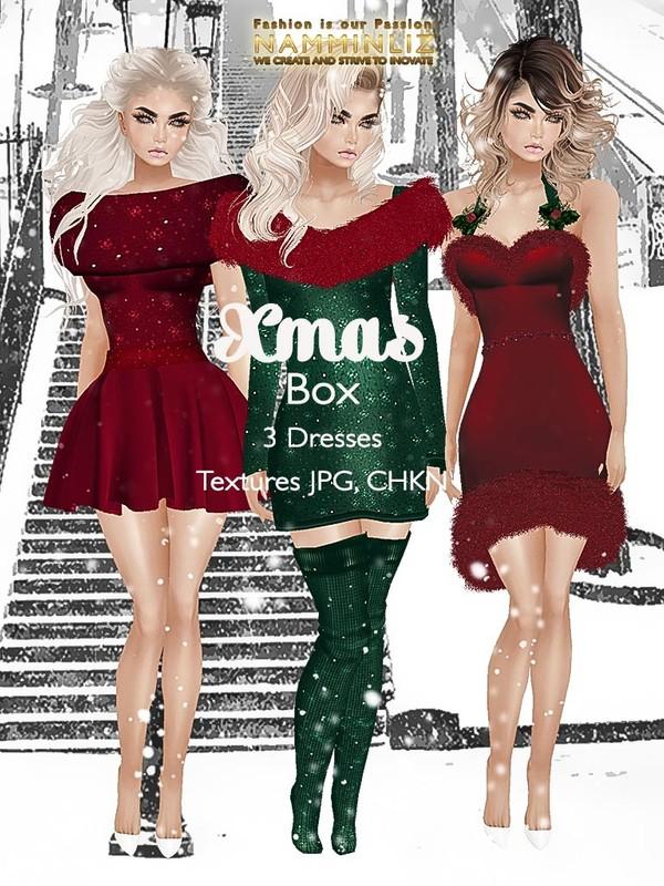 Xmas Box 3 Dresses Texture JPG CHKN