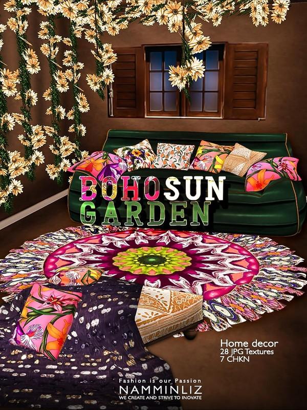 Boho Sun Garden Home decor 28 JPG Textures 7 CHKN