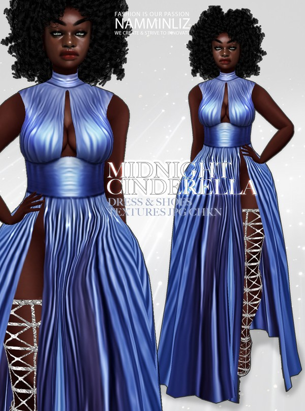 Midnight Cinderella Bundle Textures JPG Dress and Shoes CHKN