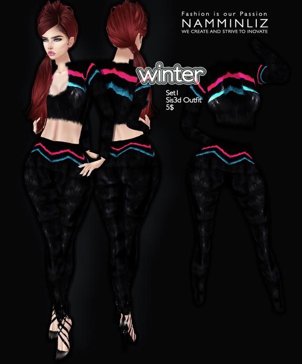Winter set 1 imvu Sis3d outfit