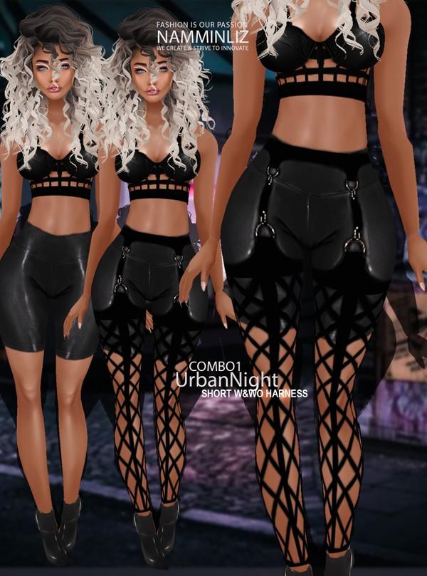 Urban Night Combo1 Short w&wo Harness Textures PNG CHKN