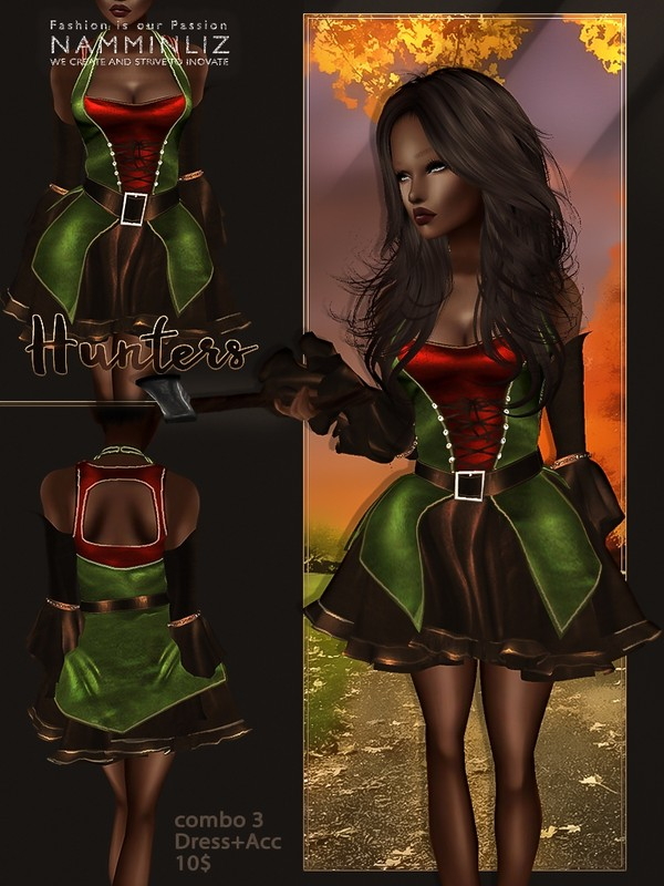 Hunters combo3( Outfit + Accessories) JPG Textures
