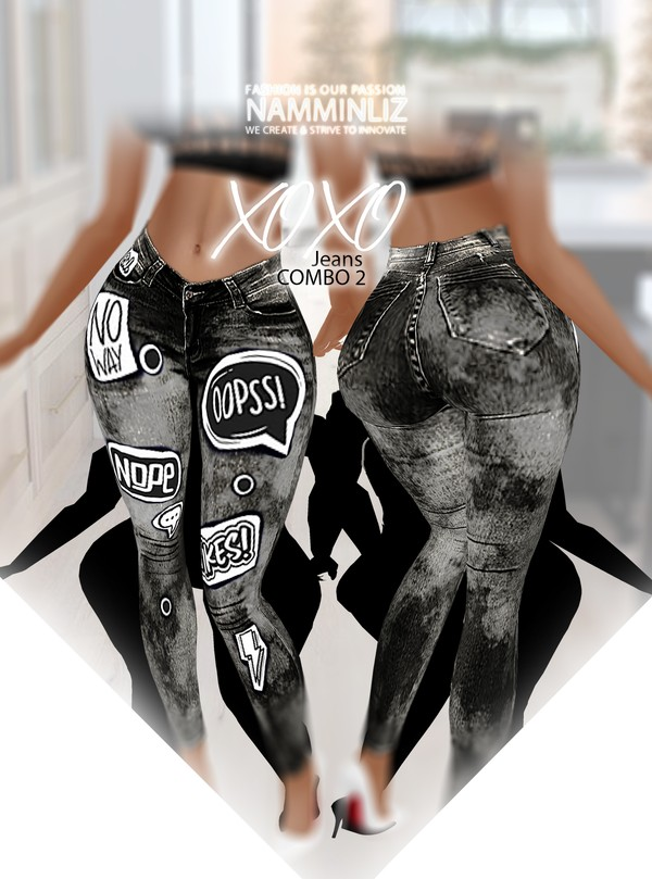 XOXO Jean Combo2 RLL Textures PNG CHKN ^   .   ^