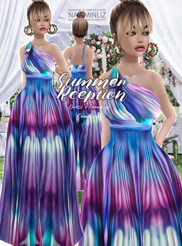 Summer Reception combo 3 Dress & Earrings Textures JPG 2 CHKN