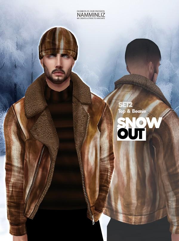 Snow Out SET2 Tops Beanie Textures JPG 2 CHKN