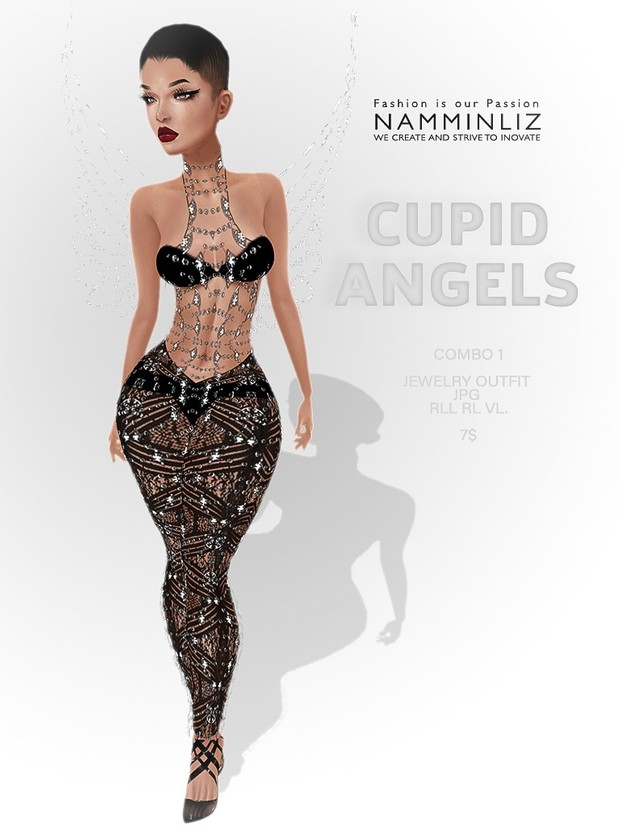 Cupid Angels full combo ( 3 Outfits RLL, VL + Top+ Pants ) JPG textures