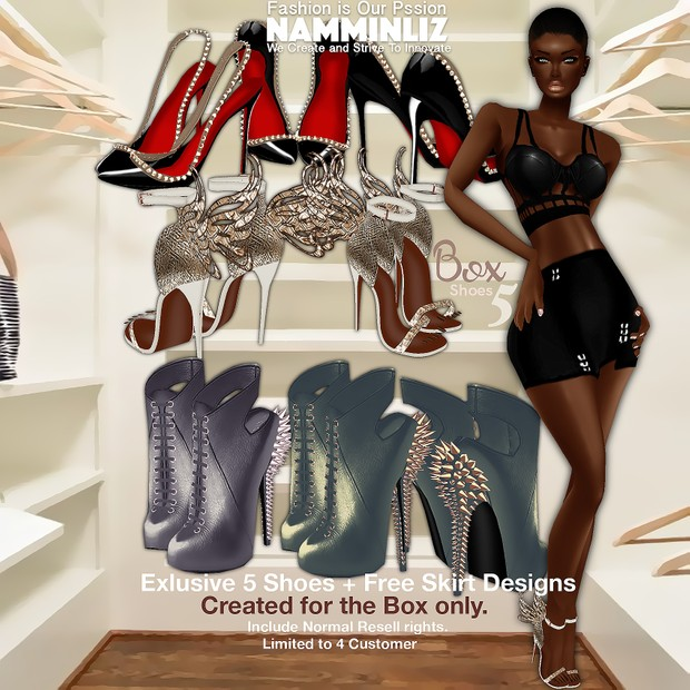 BOX 5 Shoes + Free Skirt • Limited to 4 Customers