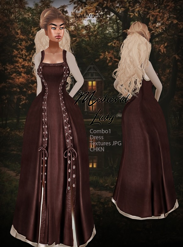 Medieval Lady combo 1 Dress Textures JPG CHKN