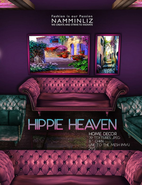 Hippie Heaven imvu Home decor 39 Textures JPEG • 8.CHKN