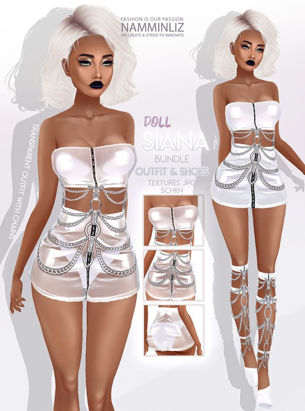 SIANA Doll Bundle 5 Outfits & Shoes Textures JPG 5 CHKN Limited to 3 clients only