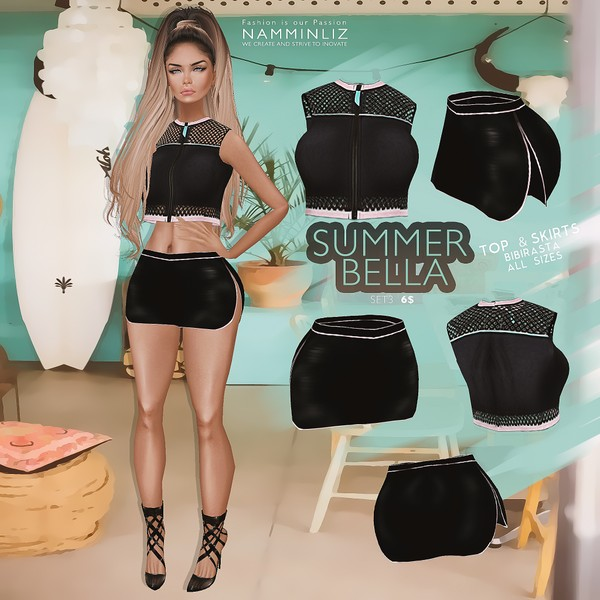 Summer Bella SET 3   •Top & Skirt Bibirasta
