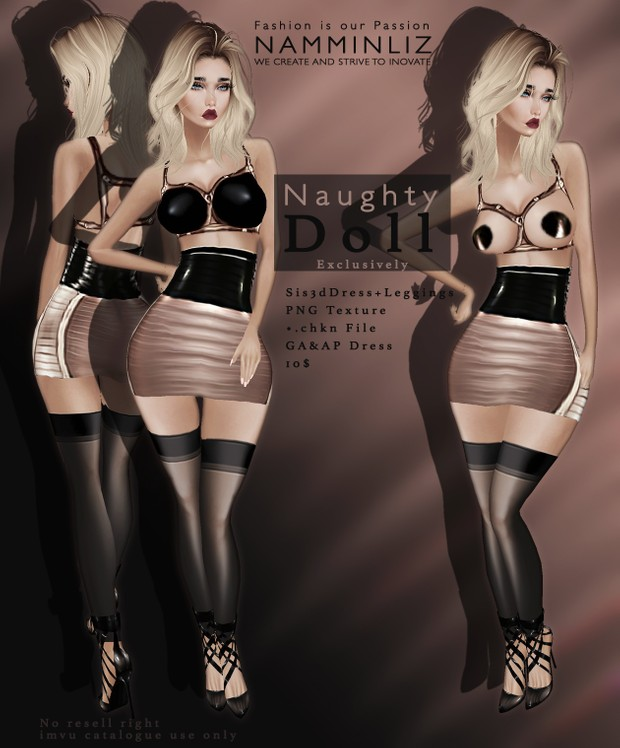 Exclusively Naughty Doll Sis3d Dress No Resell right