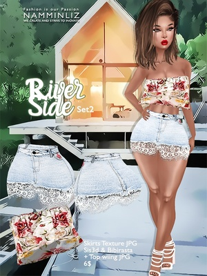 River Side  Set 2 ( Skirts JPG Textures bibirasta sis3d + Wiing Top )
