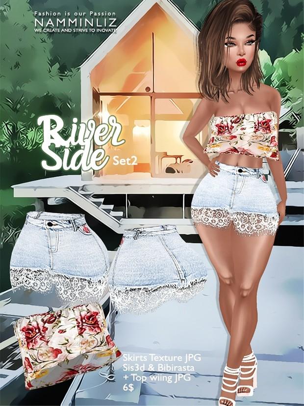 River Side  Set 2 ( Skirts JPG Textures bibirasta sis3d + Wiing Top )