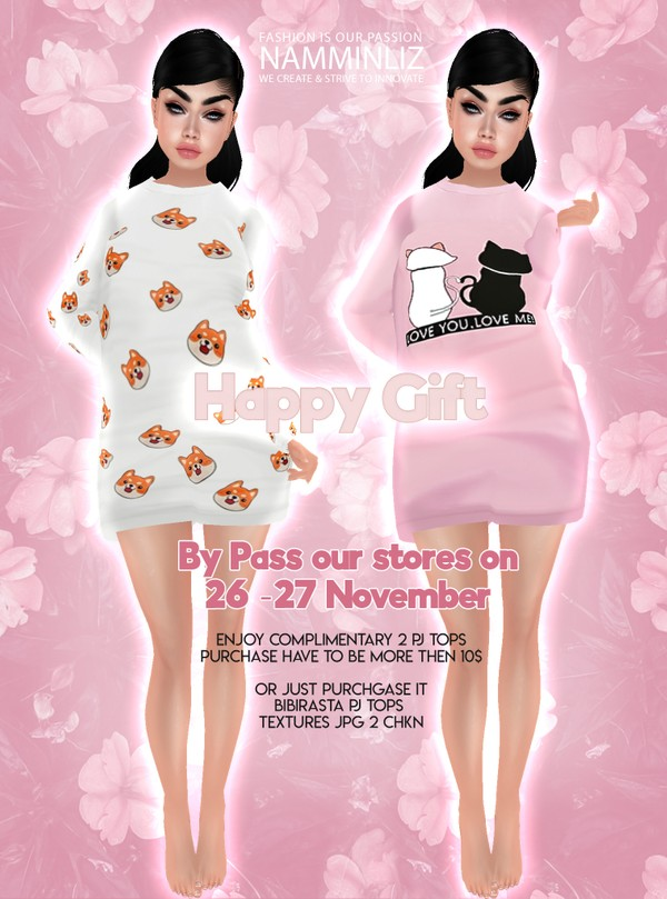 ByPass our Stores on 26- 27 November and enjoy complimentary Happy Gift 2 PJ Tops Textures JPG CHKN