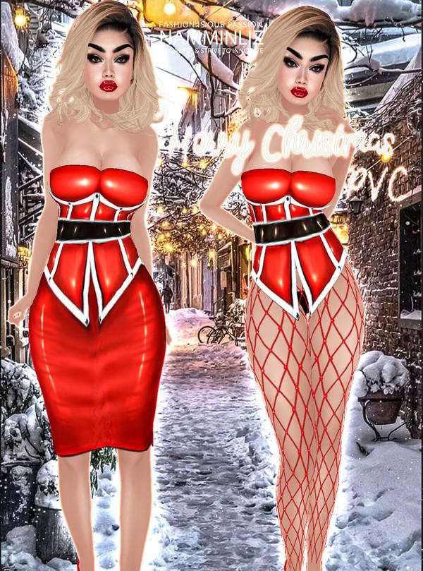 Merry Christmas Bundle PVC (Top & Corset, Skirts, Leggings)