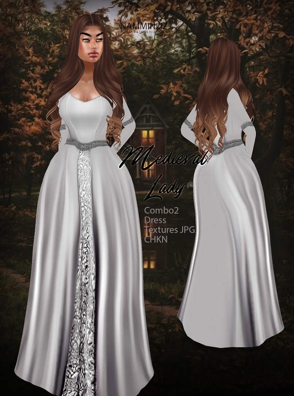 Medieval Lady combo 2 Dress Textures JPG CHKN