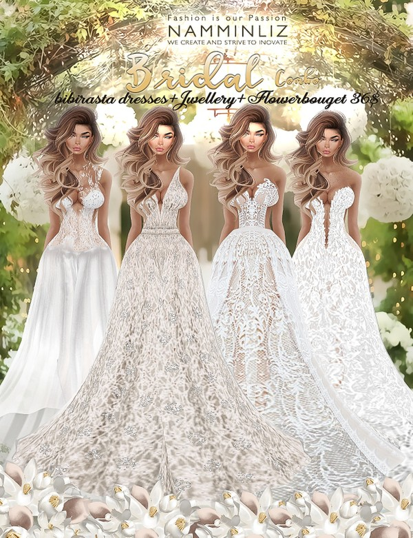 Bridal full combo •imvu Bibirasta dress all sizes
