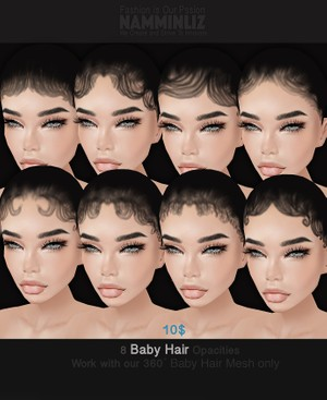 New imvu Baby Hair Opacity Textures 8 PNG