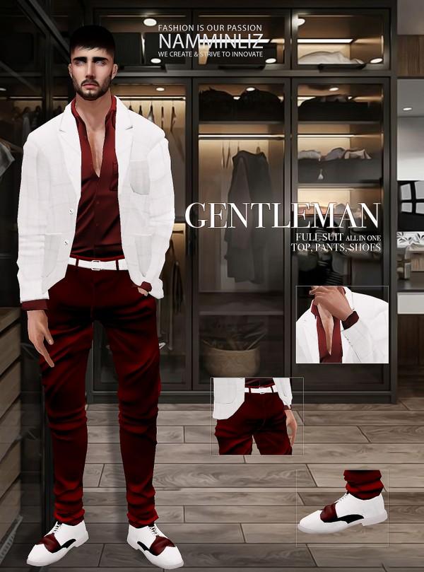 GENTLEMAN V1 Textures JPG CHKN  Full Suit (Top, Pants. Shoes)