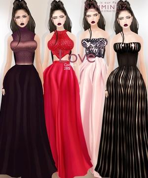 Love Full combo 4 Bibirasta imvu dresses + 4 Earrings