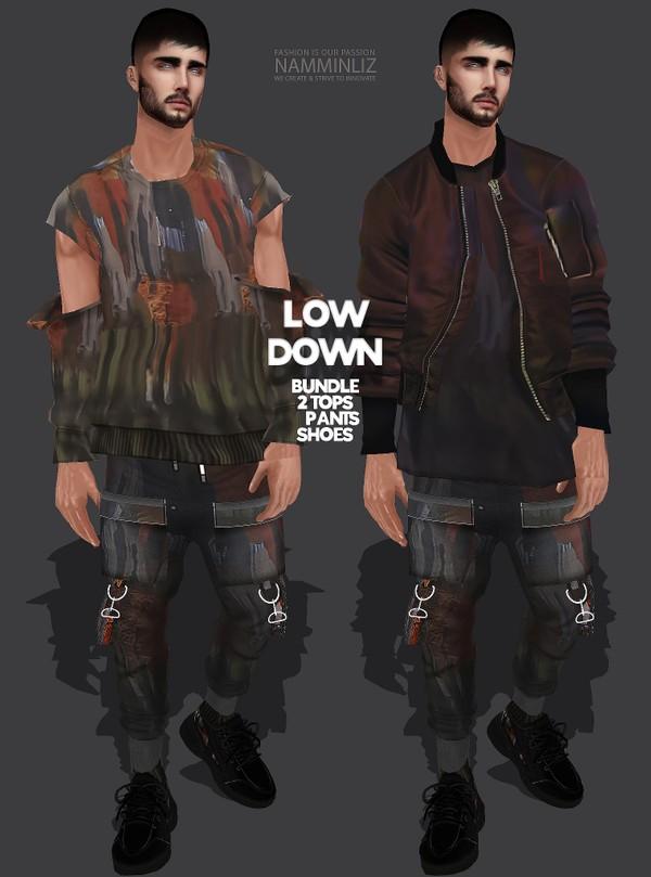 LOW DOWN Bundle1, 2 Tops, Pants, Shoes Textures JPG 4 CHKN