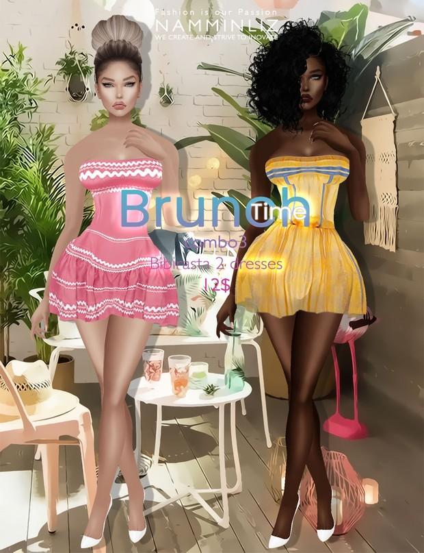 Brunch time combo ( imvu Bibirasta 6 dresses ) all sizes