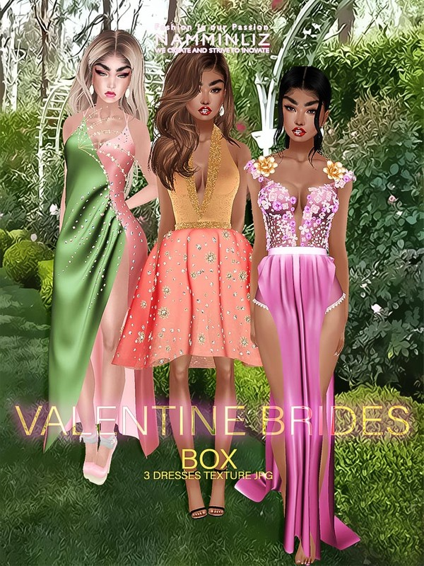 Valentine Brides Box Textures JPG 3 dresses CHKN
