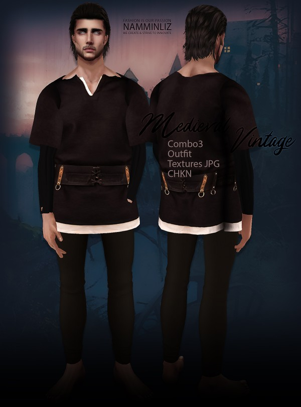 Medieval Vintage combo3 Outfit Textures JPG CHKN