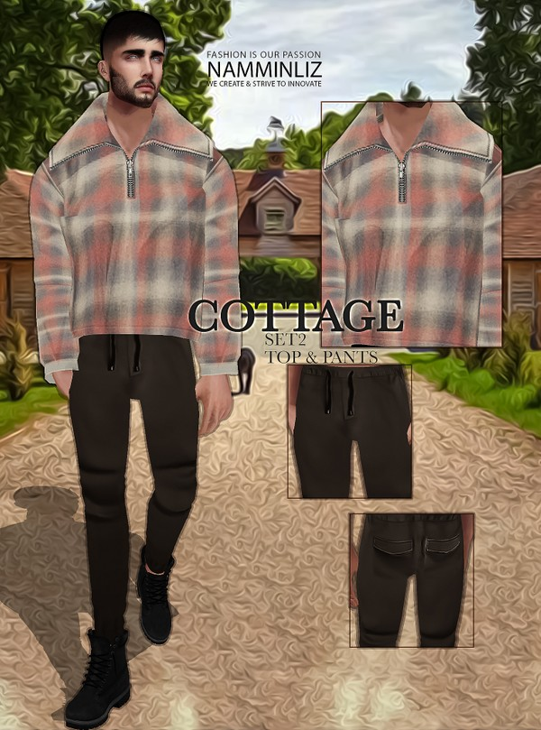 Cottage SET2 Textures JPG Top & Pants 2 CHKN
