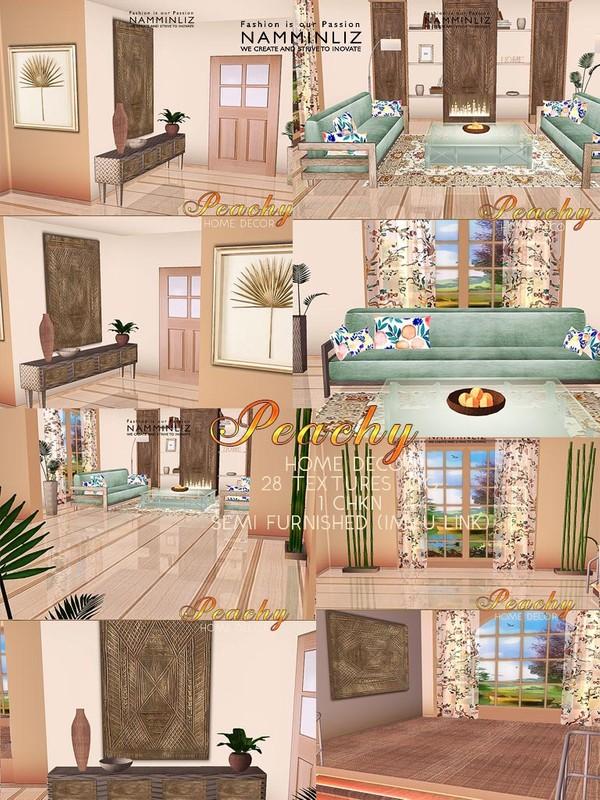 Peachy Home decor 28 Textures JPG 1 CHKN Semi Furnished (imvu link)