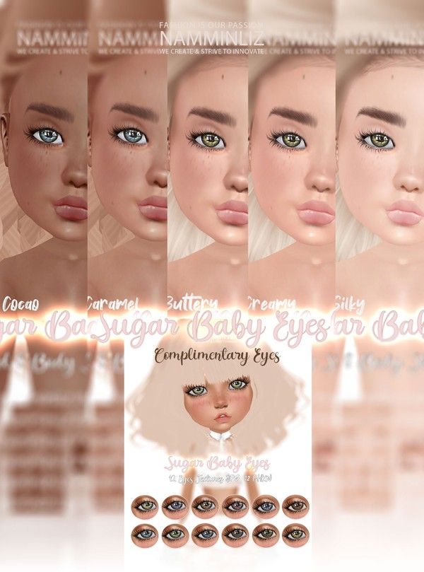Sugar baby Skins Full Pack + Complimentary Sugar baby Eyes Textures JPG CHKN
