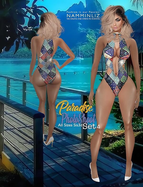 Paradise Bikini PhotoShoot  SET4 All size Sis3d IMVU Textures