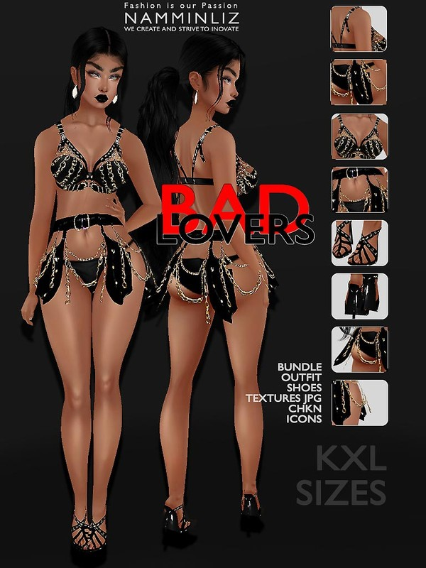 Bad Lovers BUNDLE Outfit Shoes Textures JPG CHKN ICONS KXL sizes