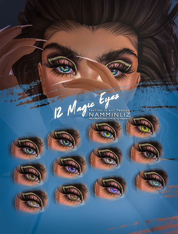 12 Magic Eyes PNG Textures & 12 CHKN