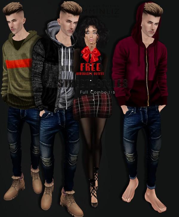 StreetStyles Full combo + Free Gift bibirasta outfit imvu