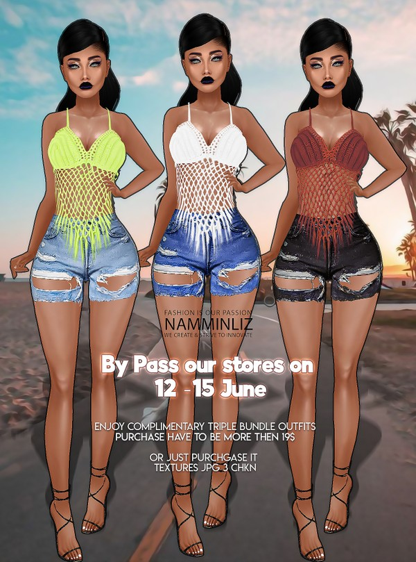 By Pass our store on 12 to 15 June to get a complimentary Triple Bundle Outfits Textures JPG 3 CHKN