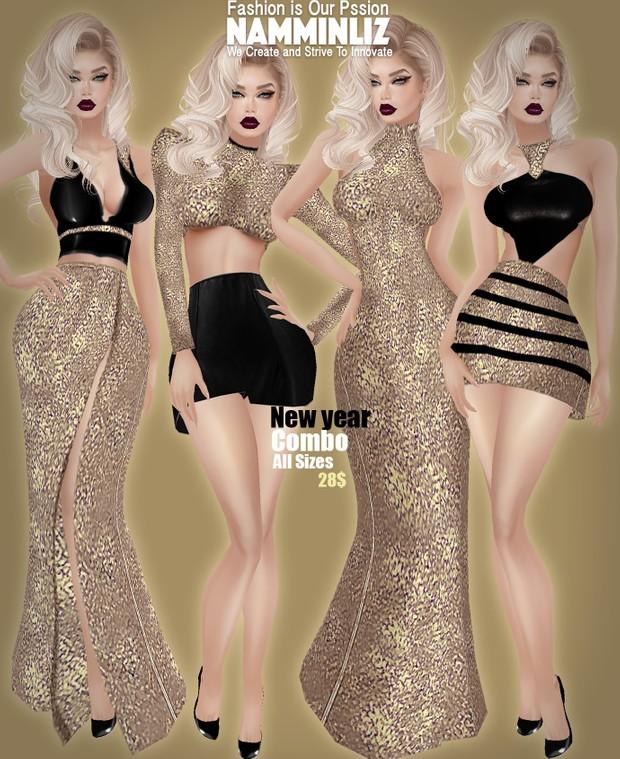 C O M B O  2 New Year 2017 all sizes Dress