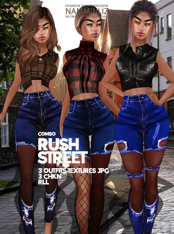 Rush Street full combo Textures 3 Outfits JPG 3 CHKN RLL