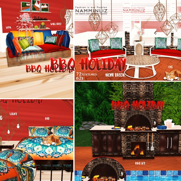 BBQ Holiday Room Decor 72Textures Limited