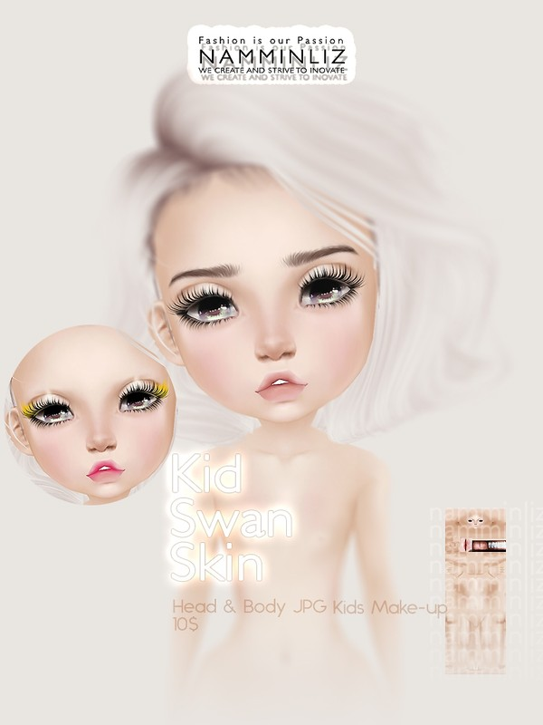 Kid Swan Skin & Make-up JPG (2* .CHKN file)