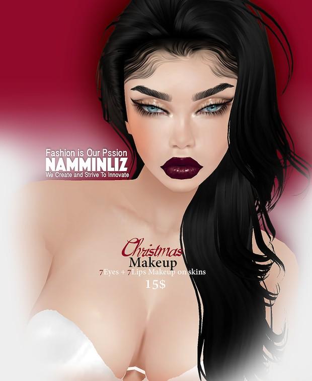 M A K E U P Christmas 7Eyes +7Lips Makeup to add to any imvu Skin