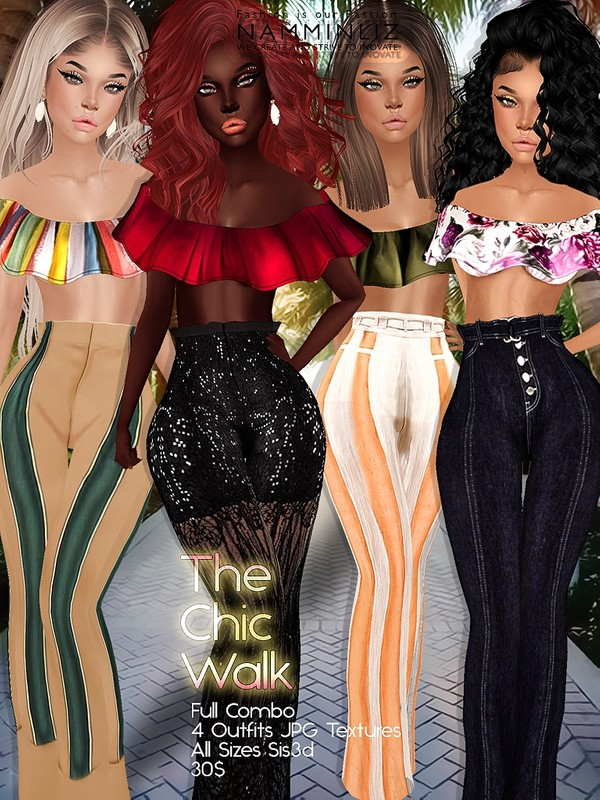 The Chic Walk Full combo (4 Outfits) JPG Textures All sizes sis3d