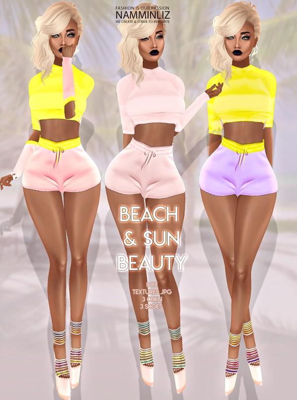 Beach & Sun Beauty Box 3 Outfits Textures JPG 3 CHKN